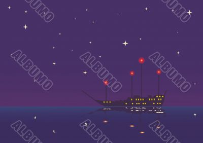 vessel in the night