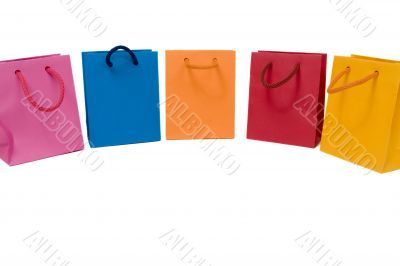 Colored carrier bags