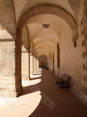 corridor of a people`s hospice