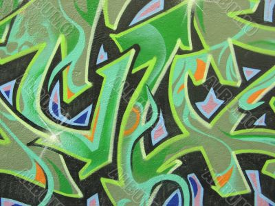 abstract colored graffiti
