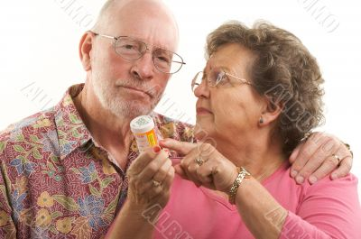 Senior Couple with Prescription Bottle