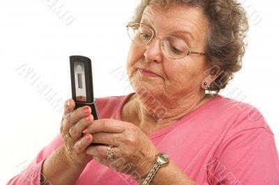 Senior Woman Using Cell Phone