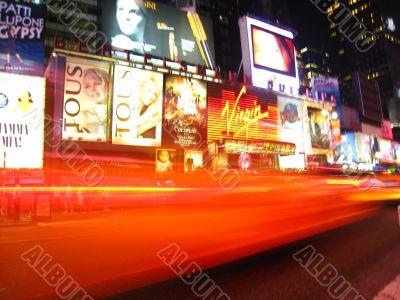 Times Square blur