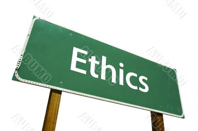 Ethics Road Sign with Clipping Path