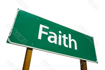 Faith Road Sign with Clipping Path
