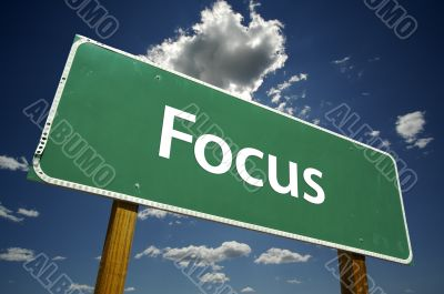 Focus Road Sign