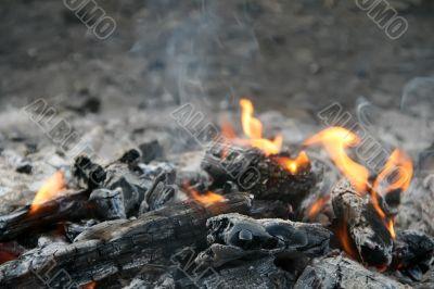 diminishing flame
