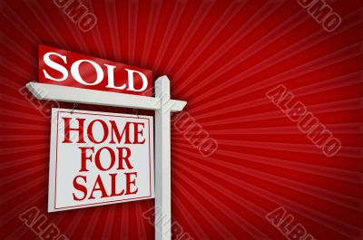 Sold Home for Sale Sign