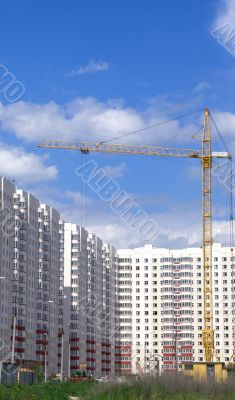 Under construction new residential building