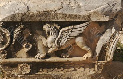 Lion with Wings Relief