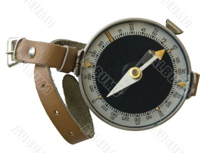Compass with hand strap