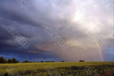 Lanscape with rainbow