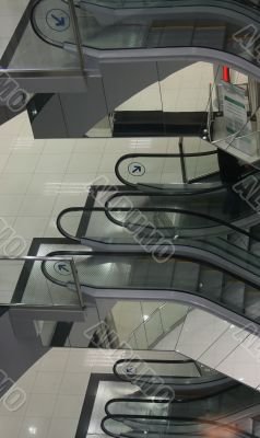 escalators of business-center
