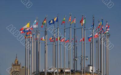 Circle of European flags