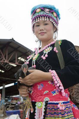 Hmong women, Laos