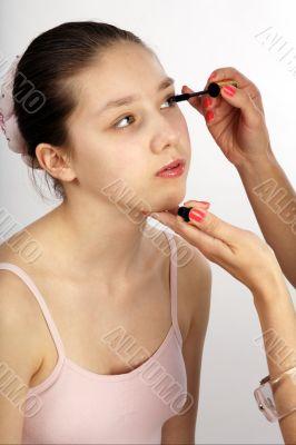 teen and mascara
