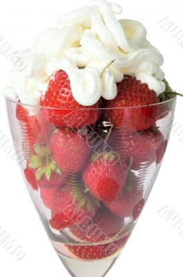 Strawberry in a wine glass