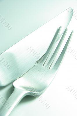 fork knife together