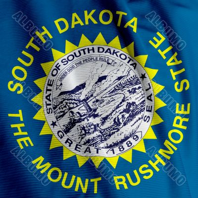 South Dakota Flag Closeup