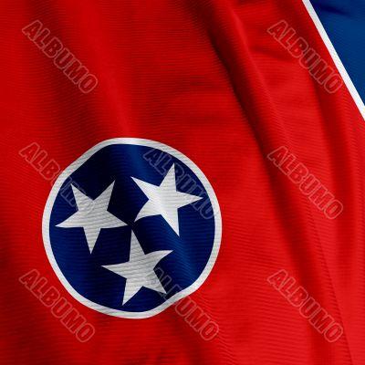Tennessee Flag Closeup