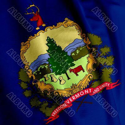 Vermont Flag Closeup