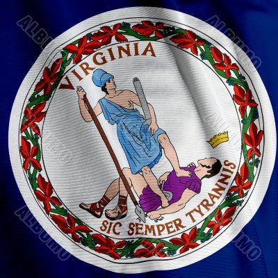 Virginia Flag Closeup