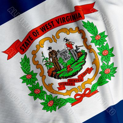 West Virginia Flag Closeup