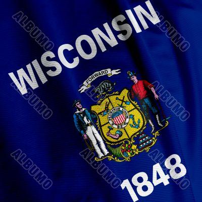 Wisconsin Flag Closeup