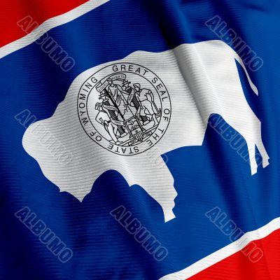 Wyoming Flag Closeup
