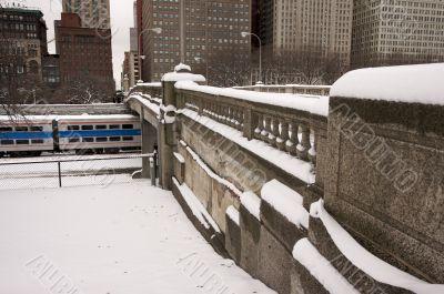 Bridge Over Chicago Train