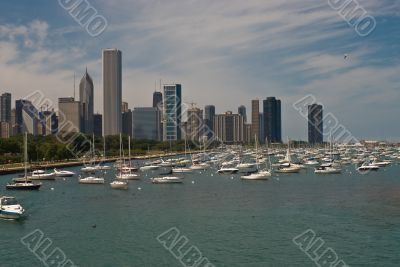 Chicago Harbor and Skyline
