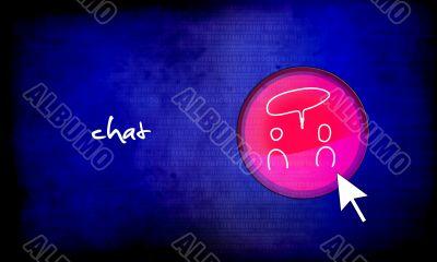 web button - chat