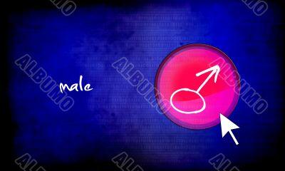 web button - male