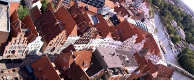 Tile roofs of Lubek, Germany