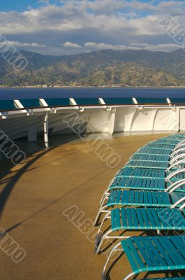 Cruise Ship Deck Abstract