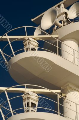 ea. Cruise ship radar and signaling equipment.