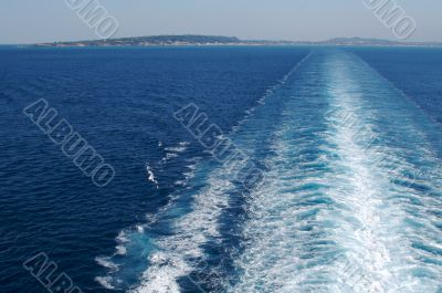 Trail from A Cruise Ship