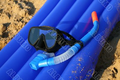 diving mask and tube
