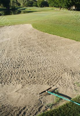 Abstract of Golf Course Bunker