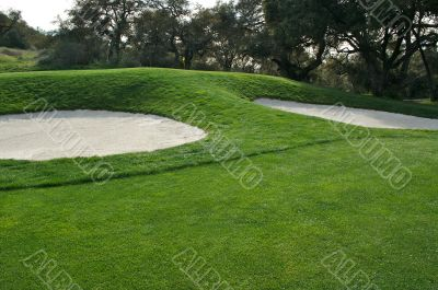 Abstract of Golf Course Bunkers