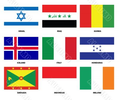 pack of national flags
