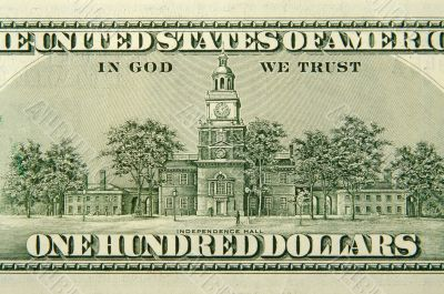 The Back of a One Hundred Dollar Bill