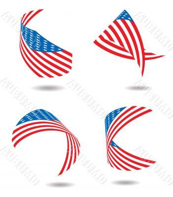 us flag ribbon