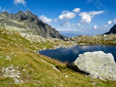 Blue mountain pond