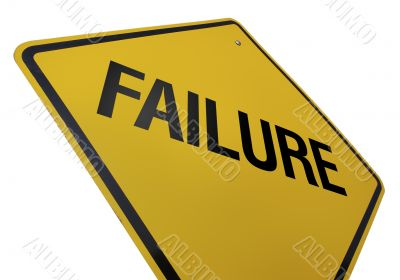 Failure Road Sign Isolated