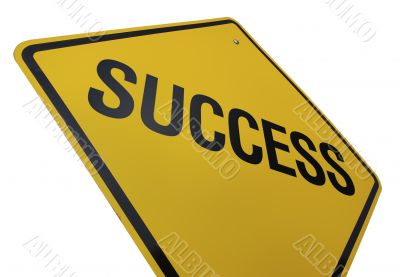 Success Road Sign Isolated