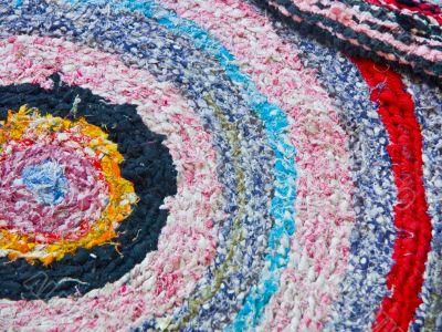 Knitted doormat