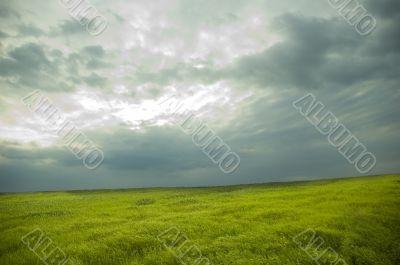 landscape. cloudy sky