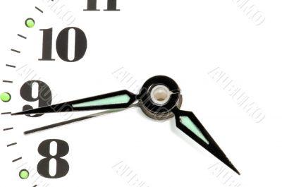 clock dial closeup