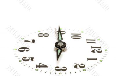 clock dial on white